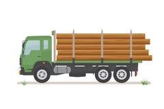 Внося в журнал тележка на дороге белизна изолированная предпосылкой иллюстрация штока