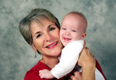 внук бабушки Стоковые Фото