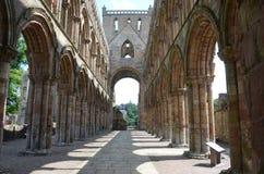 Внутреннее аббатство Jedburgh Стоковое Изображение RF