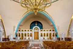Внутреннее воскресение собора Христоса правоверного в Тиране Стоковое Изображение RF