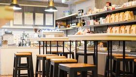 Внутреннее кафе десерта и кафе кофейни Стоковое Фото