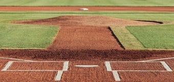 Внутреннее поле бейсбола Стоковые Изображения RF