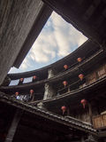 Внутреннее традиционное здание Tulou Hakka Фуцзянь, Китай Стоковые Изображения