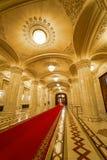 Внутреннее украшение дворца Ceausescu роскошное стоковые фотографии rf