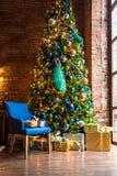 Внутреннее художественное оформление рождества и Нового Года Стоковые Изображения RF