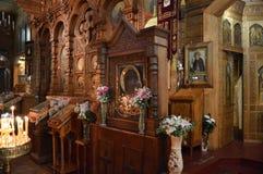 Внутреннее художественное оформление православной церков церков стоковое изображение