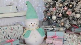Внутреннее художественное оформление ` s Нового Года Новый Год рождество моя версия вектора вала портфолио видеоматериал