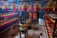 Внутреннее Man Mo Temple Гонконг Стоковая Фотография RF