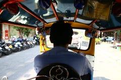 Внутреннее tuc tuc в Бангкоке Стоковая Фотография RF