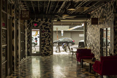 Внутренние бар и галерея на районе Wynwood miami Стоковое Изображение RF