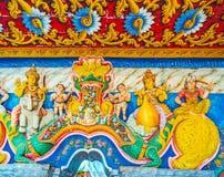 Внутренние детали виска Bogoda, Шри-Ланки Стоковые Изображения
