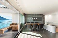 Внутренние, современные apartmen Стоковая Фотография RF