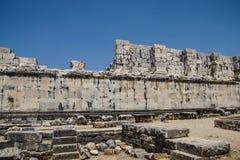 Внутренние стены ashlar виска Аполлона стоковые изображения