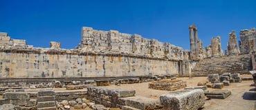Внутренние стены ashlar виска Аполлона стоковое изображение rf