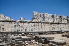 Внутренние стены ashlar виска Аполлона стоковая фотография