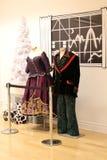 Внутренние экспонаты с одетыми манекенами покрывая моду в истории танца, Национального музея танца, Saratoga, Нью-Йорка, 2018 стоковая фотография