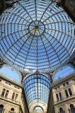 Внутренние archirectural детали галереи Umberto i в Неаполь, Италии Стоковое Фото