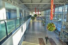 Внутренний авиапорт Прага Vaclav Havel Стоковое фото RF