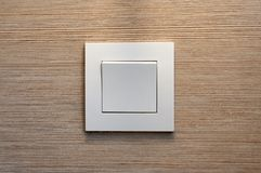 Внутренний белый современный выключатель Стоковые Изображения RF