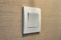 Внутренний белый современный выключатель Стоковое Фото