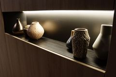 Внутренний введенный в моду nook стены Стоковое фото RF