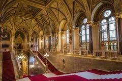Внутренний взгляд венгерского здания парламента стоковая фотография rf
