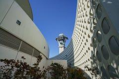 Внутренний взгляд здания темы LAX стоковое изображение rf