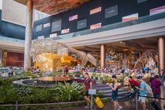 Внутренний взгляд ЗНАЧКА СИАМА, новые торговый центр и ориентир Бангк стоковая фотография