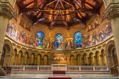 Внутренний взгляд мемориальной церков, Стэнфордский университет Стоковые Изображения RF