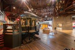 Внутренний взгляд музея железной дороги положения Калифорнии стоковые изображения