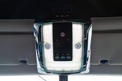 Внутренний взгляд нового очень дорогой автомобиль Rolls Royce фантомный, д стоковое фото