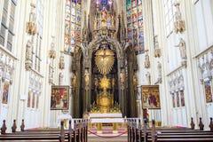Внутренний взгляд церков Марии am Gestade в вене Стоковое Изображение
