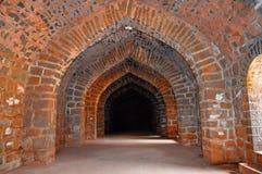 Внутренний взгляд Ambarkhana Saraswati Kothi Форт Panhala, Kolhapur, махарастра Стоковое фото RF