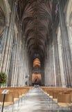 Внутренний взгляд собора Кентербери Стоковое Изображение RF