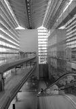 Внутренний взгляд авиапорта в Changi, Сингапуре Стоковые Фото