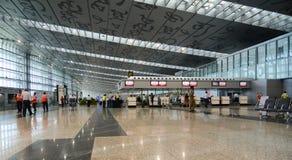 Внутренний взгляд авиапорта в Kolkata, Индии Стоковое Изображение