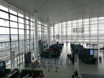 Внутренний взгляд авиапорта Нанкина Lukou Стоковое Изображение