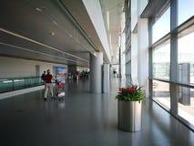 Внутренний взгляд авиапорта Нанкина Lukou Стоковые Фото