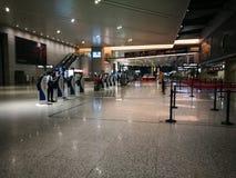 Внутренний взгляд авиапорта Шанхая Пудуна Стоковое Изображение