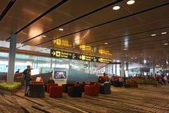 Внутренний взгляд авиапорта Changi в Сингапуре Стоковые Изображения