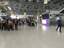 Внутренний взгляд авиапорта Suvarnabhumi Стоковая Фотография