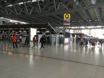 Внутренний взгляд авиапорта Suvarnabhumi Стоковая Фотография RF