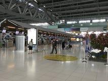 Внутренний взгляд авиапорта Suvarnabhumi Стоковые Фотографии RF