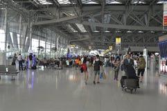 Внутренний взгляд авиапорта Suvarnabhumi Стоковое Изображение RF