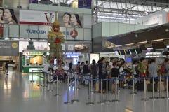 Внутренний взгляд авиапорта Suvarnabhumi Стоковое Фото