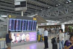 Внутренний взгляд авиапорта Suvarnabhumi Стоковые Изображения