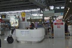Внутренний взгляд авиапорта Suvarnabhumi Стоковые Изображения RF