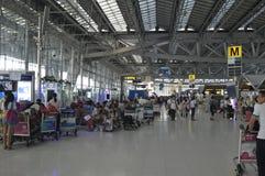 Внутренний взгляд авиапорта Suvarnabhumi Стоковое Изображение