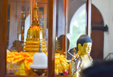 Внутренний взгляд виска священной реликвии зуба Стоковые Фото
