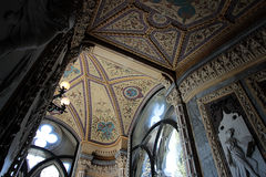 Внутренний взгляд дворца Franchetti, Венеции стоковые изображения